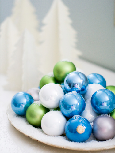 Blue-green-white-ornaments