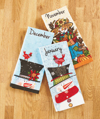 seasonal towel sets