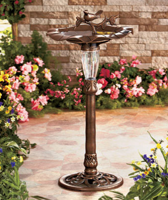 Solar-lighted-bird-feeder