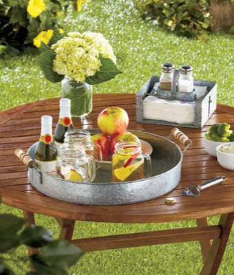 Galvanized-serving-tray
