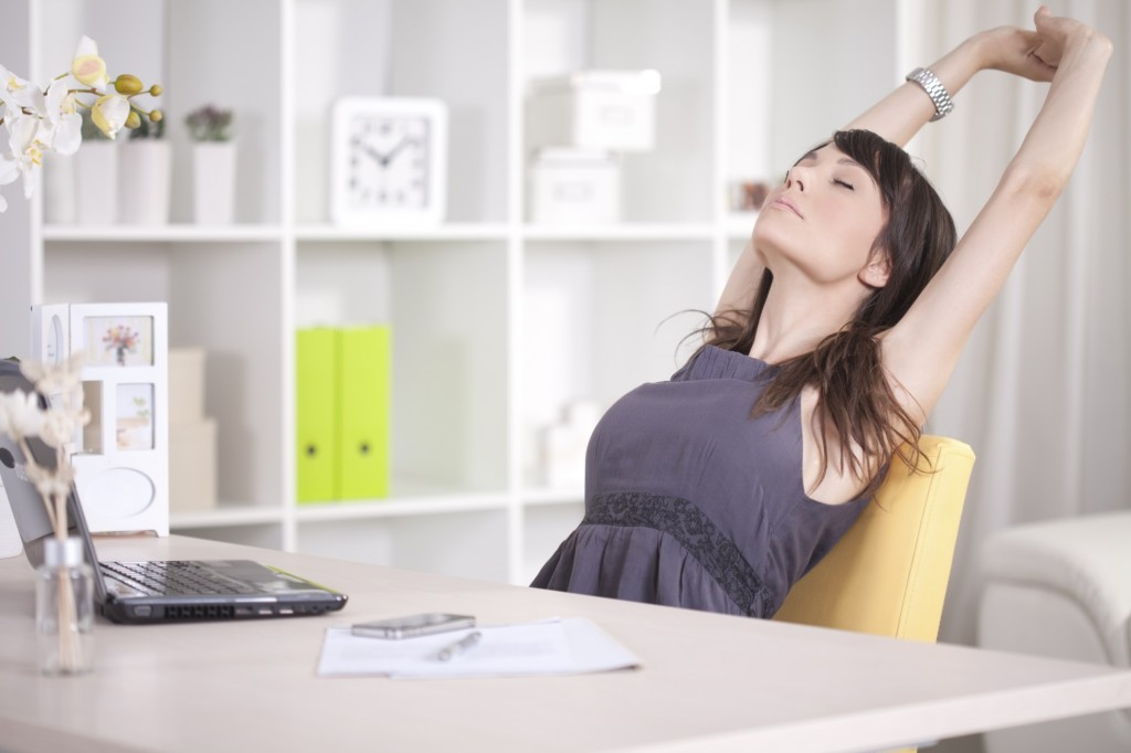 woman-relaxing-at-the-office