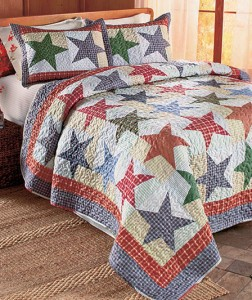 These Plaid Quilts or Shams will add country charm to your bedroom.
