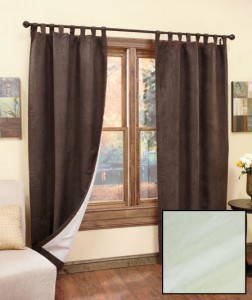 With a Set of 2 Insulated Sueded Curtains, you'll enjoy the luxurious look of suede, plus money-saving insulation in 4 decorator colors.