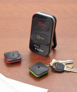 Wireless Key Finder locates your keys so you won't have to go searching for them.