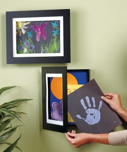 Forget magnets on the refrigerator and use Easy Change Artwork Frames to give your child's artwork the attention it deserves.
