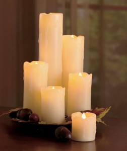 This Set of 6 LED Candles creates a realistic glow that's safe around kids and pets.