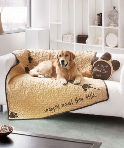 Admit your weakness for your four-legged friend with a Quilted Pet Throw or Shaped Pillow.