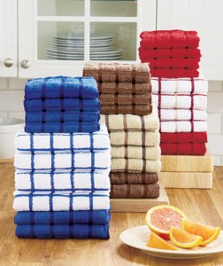Wash dishes or clean up your home with a 10-Pc. Terry Kitchen Towel Set.