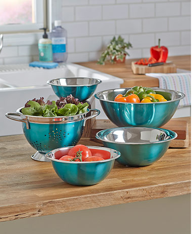 Colorful Mixing Bowls or Colanders