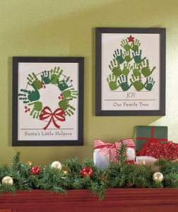 Create a family keepsake with Holiday Handprint Wall Art.