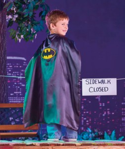 He can be 2 heroes in 1 with the Reversible Superman™/Batman™ Cape.