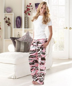 Stylish Women's Camo Cargo Sweatpants are cute and fun!
