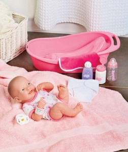 "Your little girl will feel like she's caring for a real baby with a La Newborn Real Life 14"" Doll Set or Outfits."