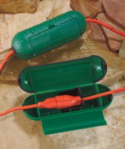 Protect outdoor electrical connections for a holiday display or at a job site with a Set of 2 Extension Cord Safety Seals.