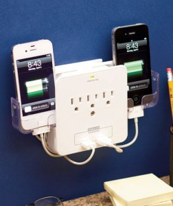 Protect your phone as it charges with this Deluxe Smartphone Charging Station.