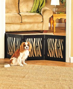Protect your furry friend and keep your furniture safe with a Fashionable Expanding Wooden Pet Gate.