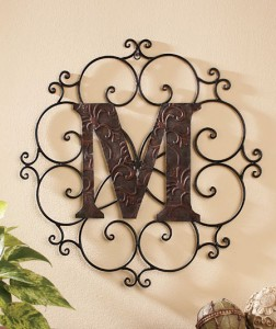 Show family pride or personalize any space with a Monogram Wall Hanging.