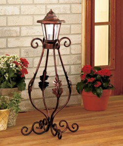 Put an elegant finishing touch on your home with a Solar Garden Post.