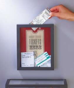 Store and display ticket stubs from movies, concerts, sporting events and more with a Ticket Memento Storage Box.