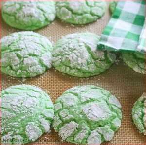 Mint-crinkle-cookies
