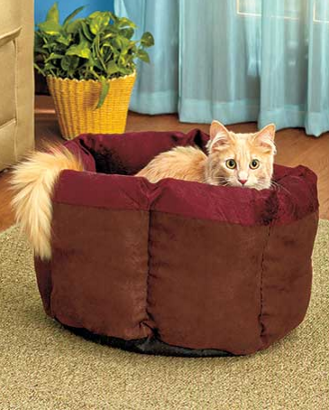 Soft-Plush-Cat-Cuddle-Bed