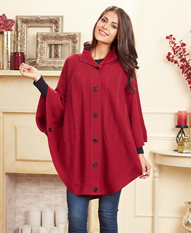 womens-button-up-sweater-poncho