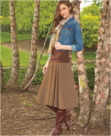womens-and-plus-size-flowy-knit-skirts