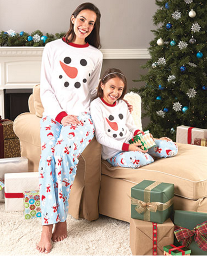 family-snowman-pajamas