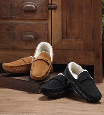mens-genuine-suede-moccasins