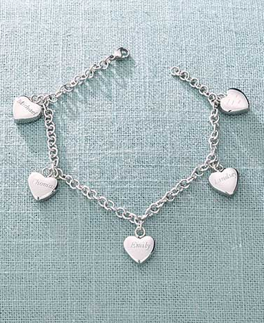 personalized-five-hearts-name-bracelets