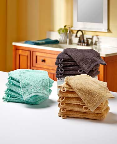 Set of 6 Wash Mitts