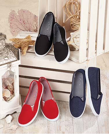 Women's Canvas Slip-On Shoes
