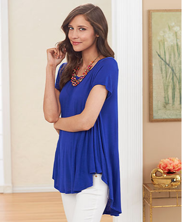 Women's Flowy Knit Swing Tops