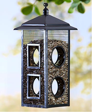 Garden Decorations - Fly Through Bird Feeder