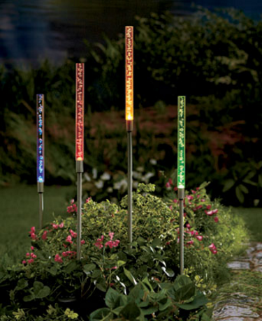 Garden Decorations - Sets of 4 Solar Tube Lights