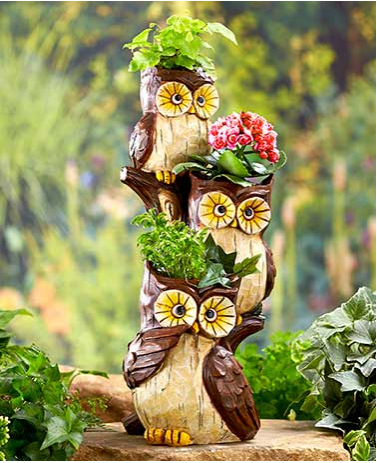 Garden Decorations - Stacked Animal Planters