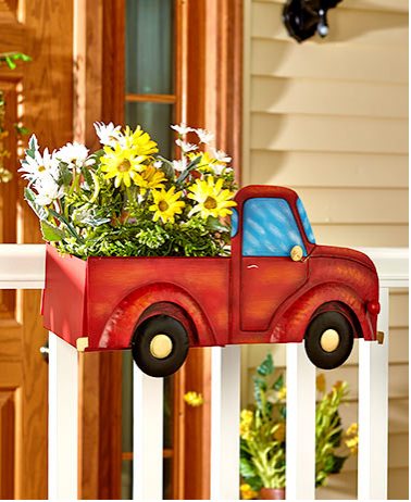 Garden Decorations - Vintage Railing Planters