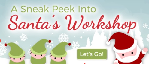 Christmas Infographic - Fun Facts About Santa's Workshop