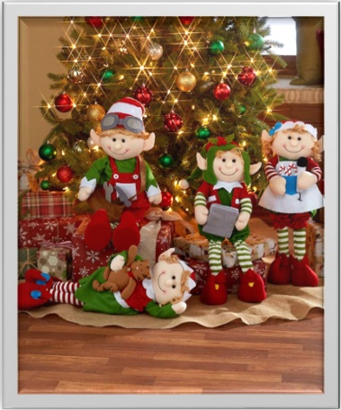 2-Foot Decorative Holiday Elves