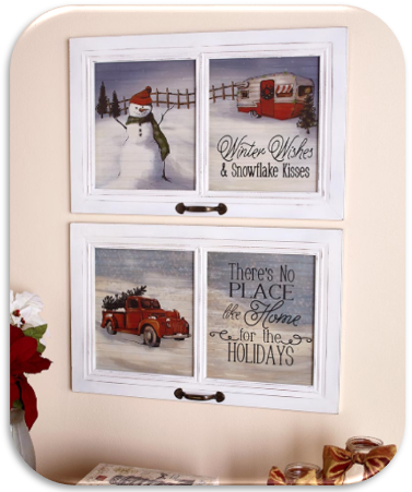 23-Inch Winter Wall Hangings