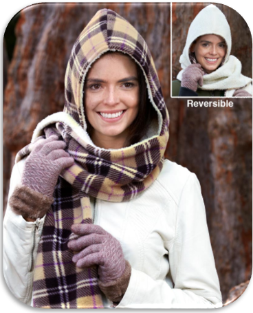 Reversible Hooded Scarves