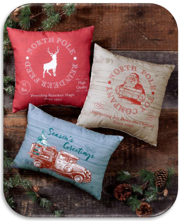 Vintage-Inspired Holiday Pillows