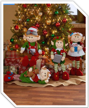 2 Foot Decorative Holiday Elves