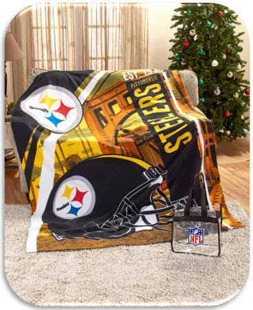 60 x 80 NFL Fleece Throw with Tote