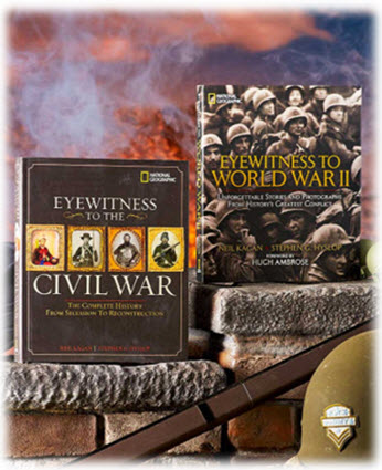 Eyewitness to Civil War or WWII Books