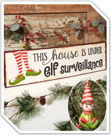 Magical Elf Holiday Ornament or Sign