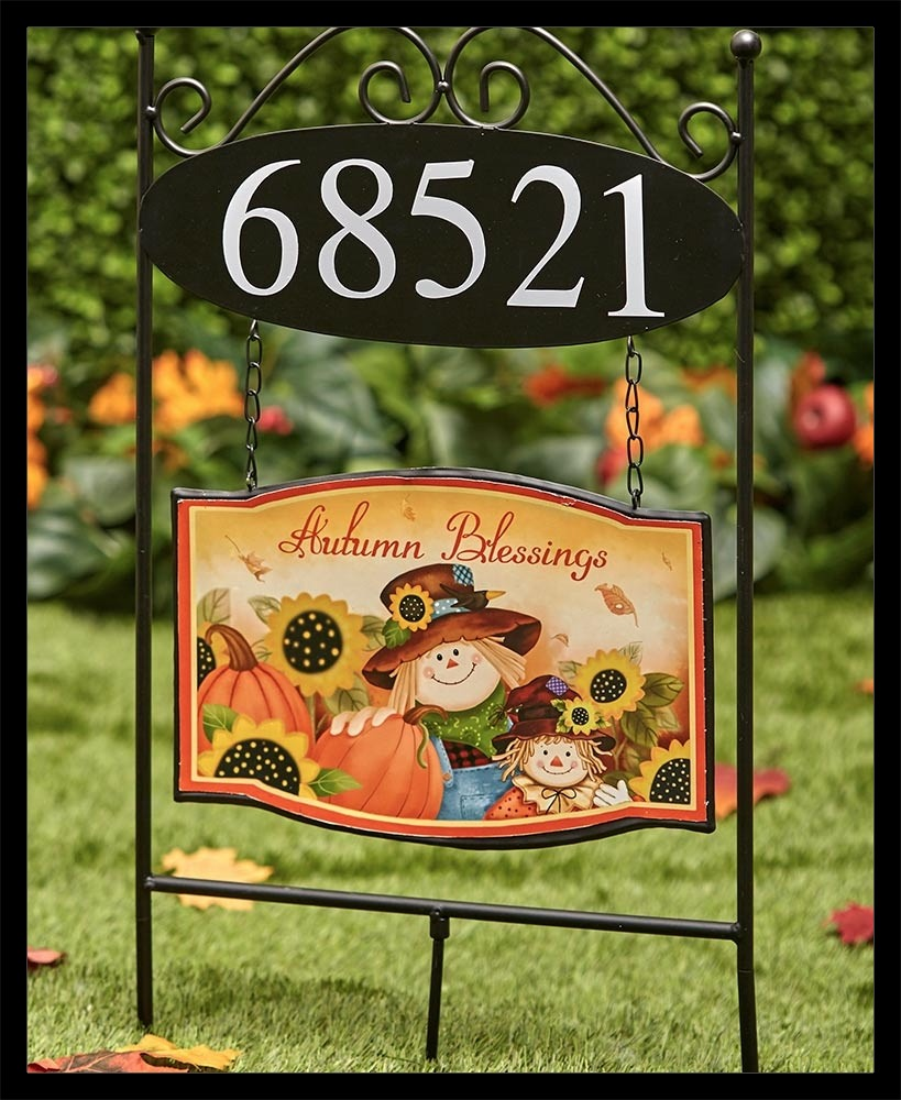 Address Stake With Fall Sign