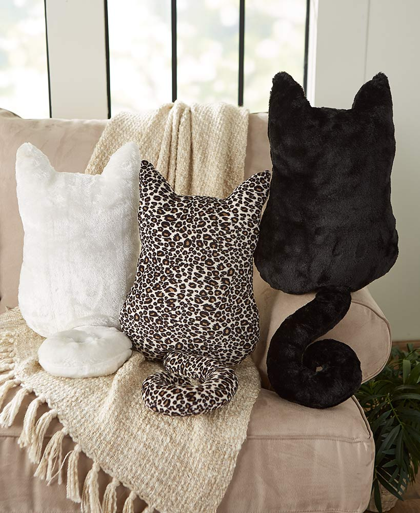 Cozy cat accent pillows