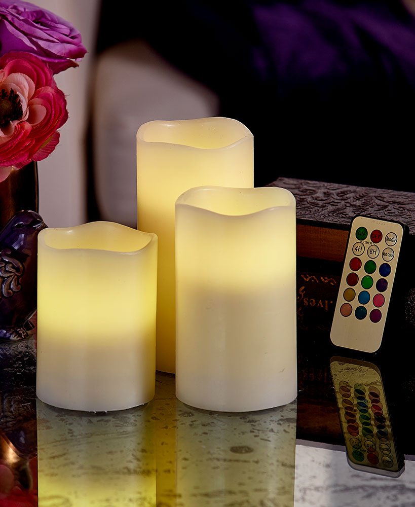 Color-changing LED candles