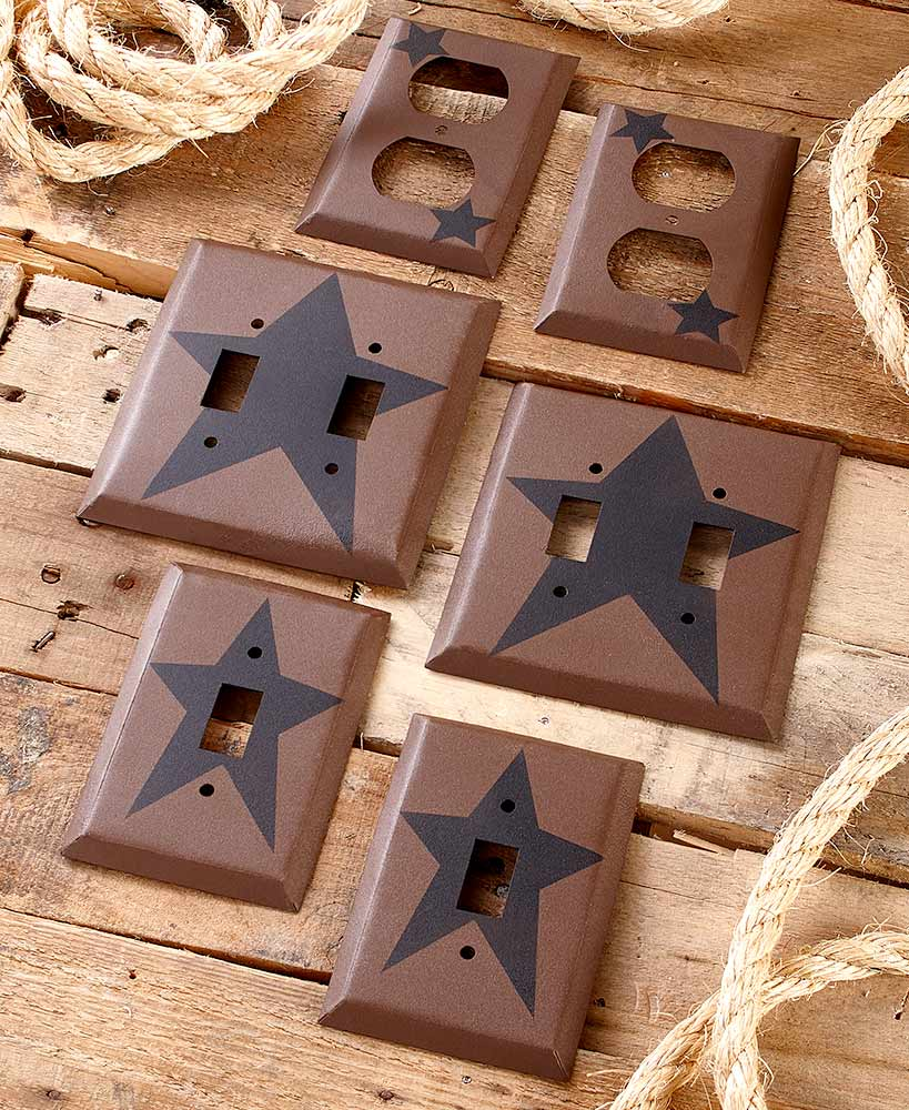 Country Primitive Decor Star Outlet Covers